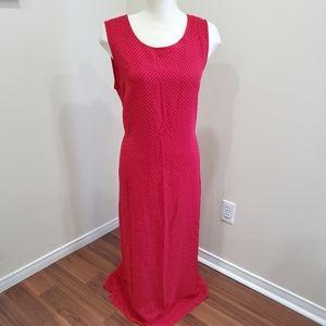 Penningtons/ Red & White Polka Dot Dress/ Size 18